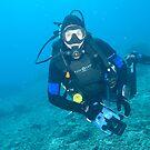 Mike at Makassar Reef by Andrew Trevor-Jones