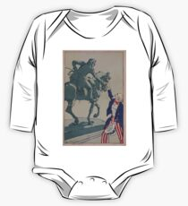 Body de manga larga para bebé Uncle Sam shaking hands with the marquis de Lafayette 1757 1834