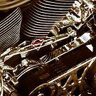 Harley Davidson Superman engine in South Dakota 2012 by David Owens