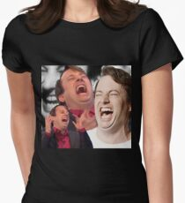 David Mitchell Hysterical Laugh Women's Fitted T-Shirt