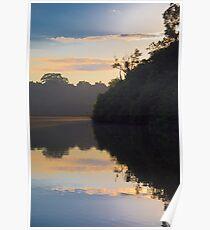 Cocha Salvador at sunrise, Parque Nacional del Manu, Peru Poster