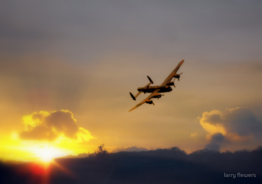 Lancaster at Sunset  by larry flewers