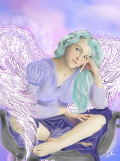 Pensive Angel by TriciaDanby