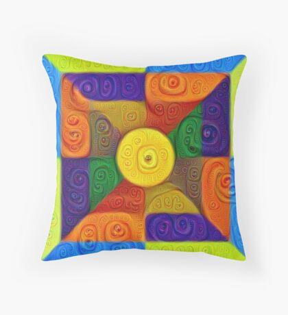 DeepDream Color Squares Visual Areas 5x5K v1447854295 Throw Pillow