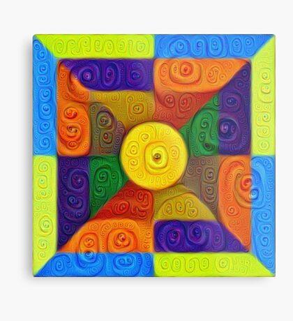 DeepDream Color Squares Visual Areas 5x5K v1447854295 Metal Print