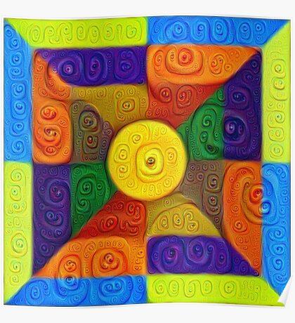 DeepDream Color Squares Visual Areas 5x5K v1447854295 Poster