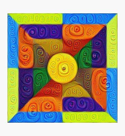 DeepDream Color Squares Visual Areas 5x5K v1447854295 Photographic Print