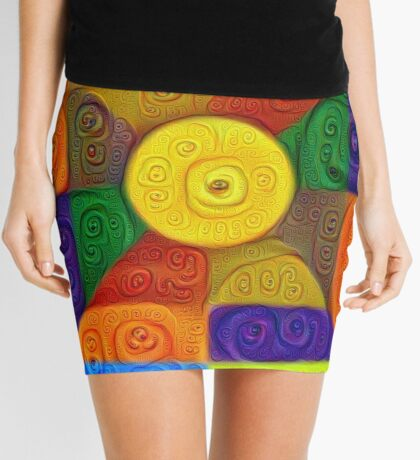 DeepDream Color Squares Visual Areas 5x5K v1447854295 Mini Skirt