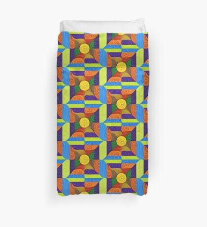DeepDream Color Squares Visual Areas 5x5K v1447854295 Duvet Cover