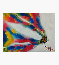 Paint My World - Butterfly Painting Photographic Print