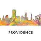 Providence, Rhode Island Skyline WB1 von Marlene Watson