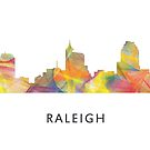Raleigh, North Carolina Skyline WB1 von Marlene Watson