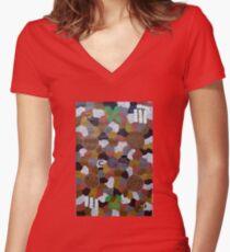 Hermannsburg Art # 2   Women's Fitted V-Neck T-Shirt