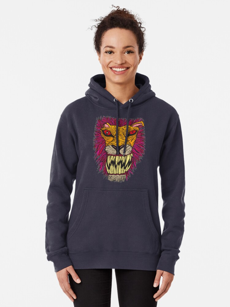 Alternate view of Monster Mondays #2 - Lionel Lion - Anger Monster! Pullover Hoodie