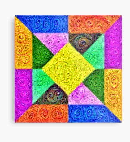 DeepDream Color Squares Visual Areas 5x5K v1447913433 Metal Print