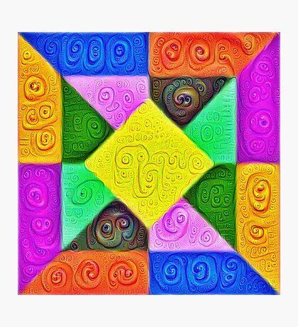 DeepDream Color Squares Visual Areas 5x5K v1447913433 Photographic Print