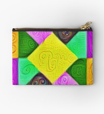 DeepDream Color Squares Visual Areas 5x5K v1447913433 Zipper Pouch