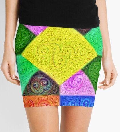 DeepDream Color Squares Visual Areas 5x5K v1447913433 Mini Skirt