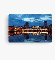 Night photography - belfast #2 Canvas Print