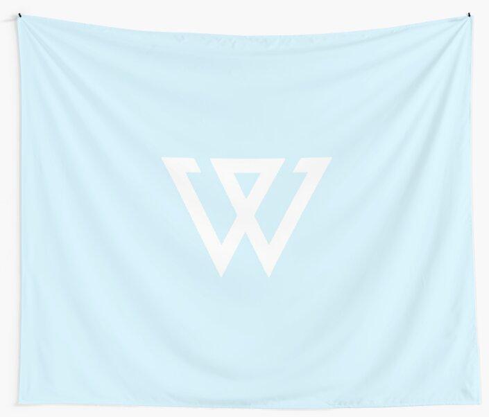 Quot Aesthetic Minimalistic Pastel Blue Winner Logo Kpop Duvet