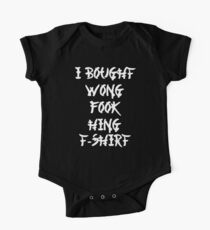 Funny Chinese I Bought Wong Fook Hing Kids Clothes