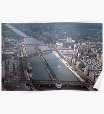 Seine and part Ile de la cite 19610416 0128  Poster