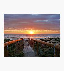 Aldinga Silver Sands Beach (Sunset) Photographic Print