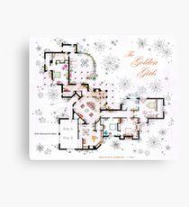 The Golden Girls House floorplan v.1 Metal Print