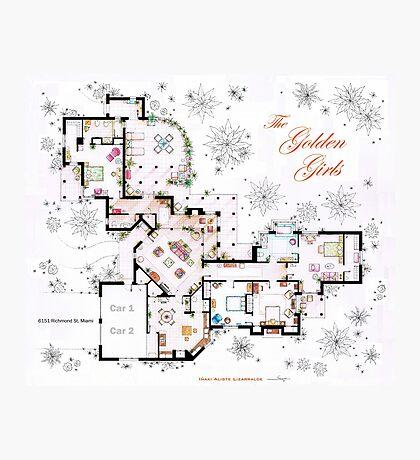 The Golden Girls House floorplan v.1 Photographic Print