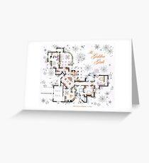 The Golden Girls House floorplan v.2 Greeting Card