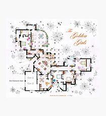 The Golden Girls House floorplan v.2 Photographic Print