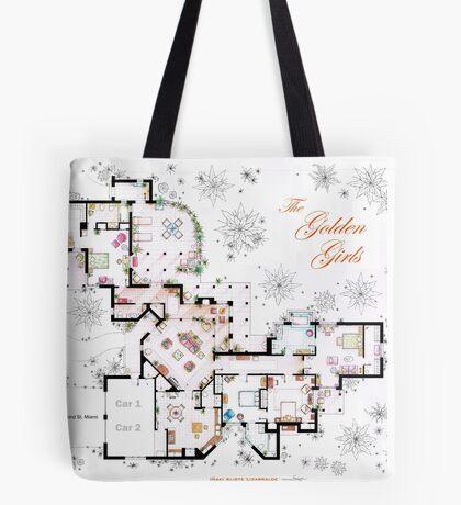 The Golden Girls House floorplan v.2 Tote Bag