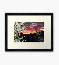 Goulburn Sunset Framed Print