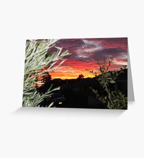 Goulburn Sunset Greeting Card