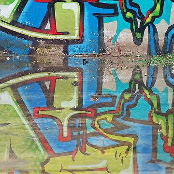 Reflected graffiti by elbus