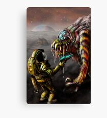 The Blunderbeast and the Spaceman Canvas Print