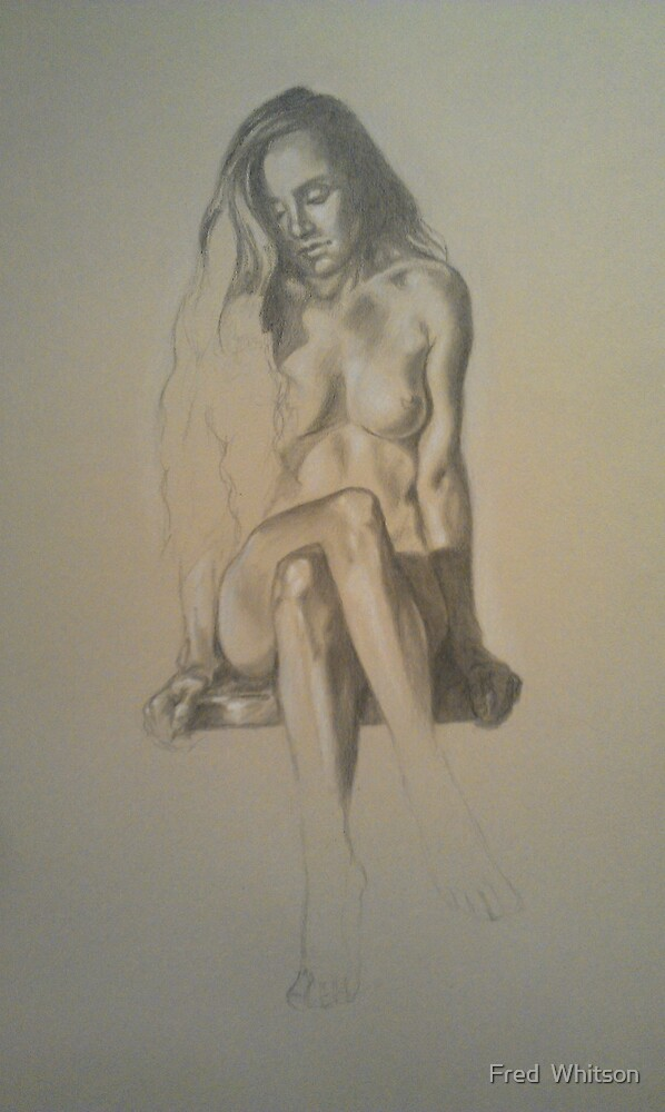 Seated Nude 4 by Fred  Whitson