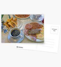 English Breakfast Postcards