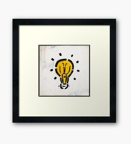 Bright Ideas Stencil Graffiti Framed Print