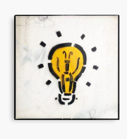 Bright Ideas Stencil Graffiti Metal Print
