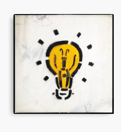 Bright Ideas Stencil Graffiti Canvas Print
