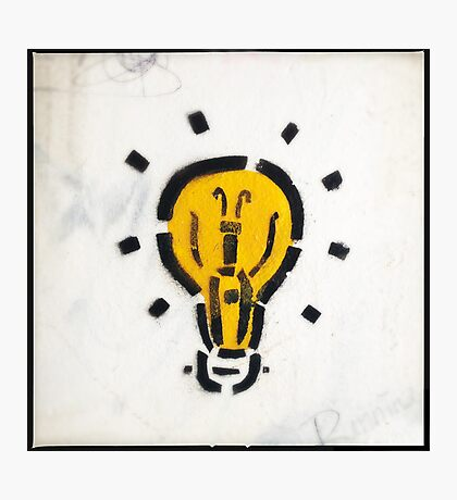 Bright Ideas Stencil Graffiti Photographic Print