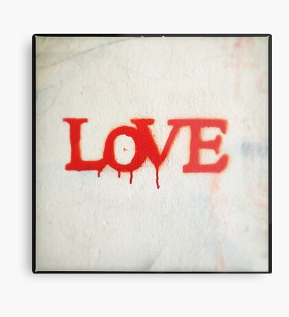 All You Need is Love (Red) Metal Print