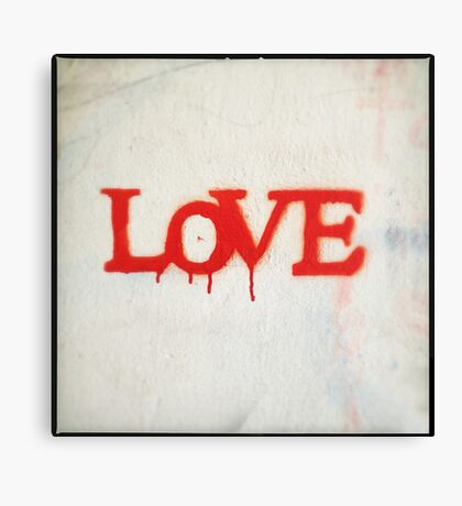 All You Need is Love (Red) Canvas Print