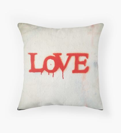 All You Need is Love (Red) Throw Pillow
