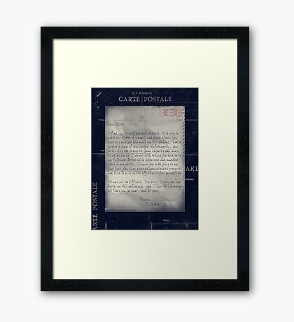 Dear Edith Crawley Framed Print