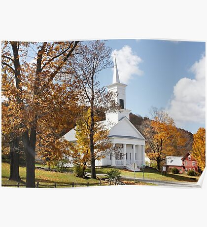 NEW ENGLAND, U.S.A. Walk to Church !! Poster