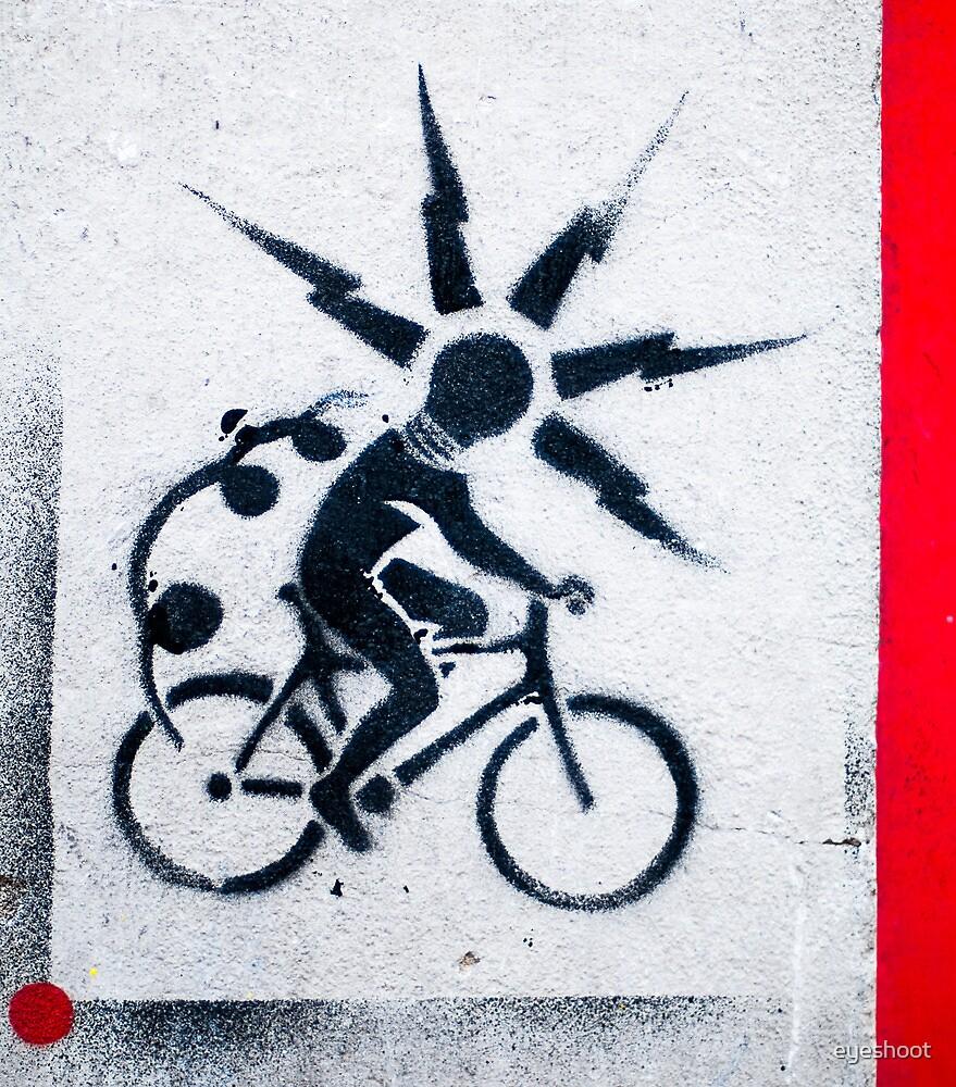 Cycling by eyeshoot