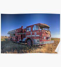 Big Red Firetruck Poster
