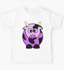 ღ°㋡Cute Lavender Colored Cow Clothing & Stickers㋡ღ° Kids Tee